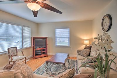Relax with family in this quaint living room.