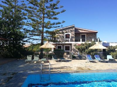 Photo for Hersonissos Apartment, Sleeps 2 with Pool, Air Con and WiFi