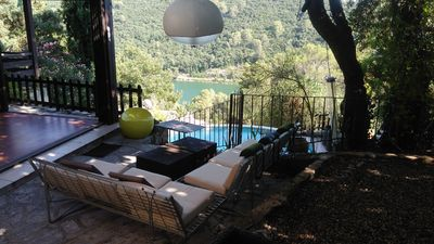 Photo for AIR CONDITIONED VILLA, WITH SWIMMING POOL, BEAUTIFUL TREES, PRETTY VIEW (LAKE CARCÈS)