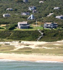 Offshore Aerial View of Whales Watch Estate - property - 3 houses - six  acres