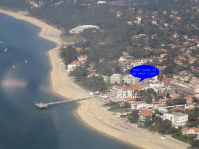 Photo for Apartment 4 to 6 people Arcachon with direct beach access