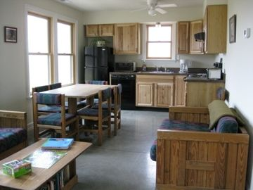 A full kitchen. Lexington VA cabins for rent offers a  vacation destination.