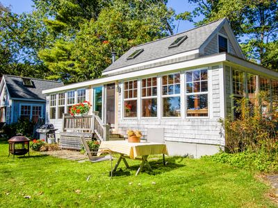 Photo for Charming bayview cottage with wood stove, deck, garden, 200 feet from the water!