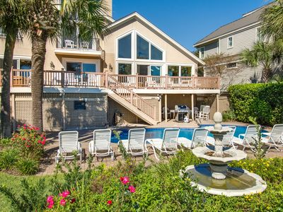 Photo for Dream home w/ unforgettable views from private pool & hot tub - central location