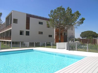 Photo for One bedroom Apartment, sleeps 4 in Saint-Cyprien-Plage with Pool, Air Con and WiFi