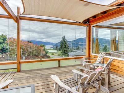 Photo for NEW LISTING! Gorgeous home w/private hot tub, Columbia River Gorge views & deck
