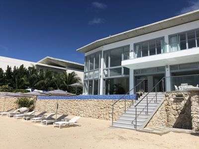 New Beachfront Private House: Infinity Pool, Gym, Media Room and Live-in Maid.