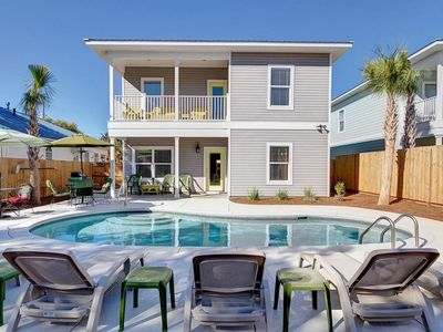 Photo for Sunset Grace  7bd/6BA   Private Heated Pool   1.5 Block to Beach  Brand New