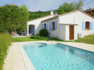 Photo for Ground-flour villa with airco, heated private swimming pool and beautiful view