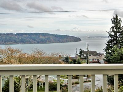 Photo for Puget Sound/Mt Rainier View House; 3BR 2.5BA w/Private Beach & Boat Launch/Dock
