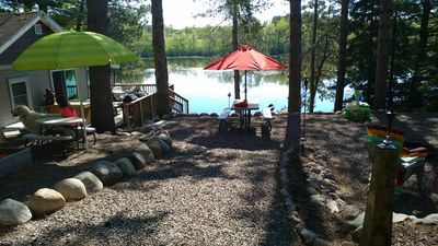 Photo for West Shore Chute Pond Waterfront Cabin Rental Fishing Boating Four Wheel trails