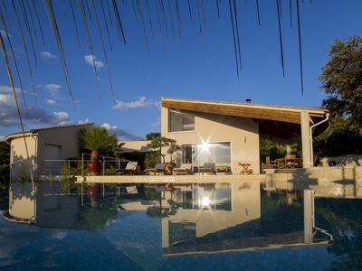 Photo for Modern architect Villa, with swimming pool, very nice and wooded garden and exceptional view