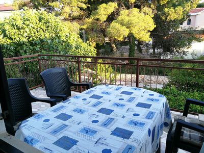 Photo for Two bedroom apartment with terrace and sea view Rogoznica