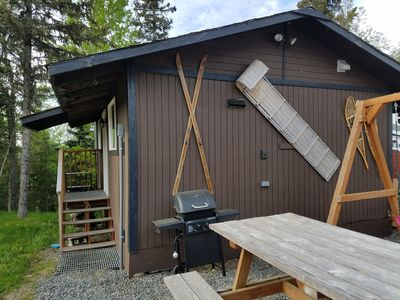 Photo for Cute Semi rustic cabin view mountains lake woods on the line of Kasilof Soldotna