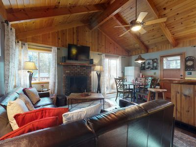 Photo for NEW LISTING!  Cozy mountain cabin with easy access to the lake and skiing!