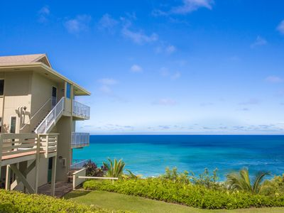 Photo for Beautiful 4 br for 8 oceanfront villa w/ breathtaking ocean views!