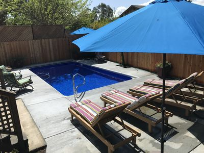 Photo for Blissful Comfort w/Pool, Hot Tub, Huge Deck, Bikes, Close to town, Firepit, BBQ