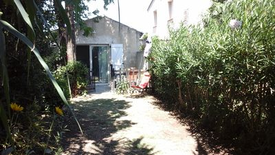 Photo for maisonnette with garden + 2 bicycles for 2 where 4 people pets allowed