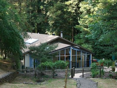 Our home nestled in the California Redwoods