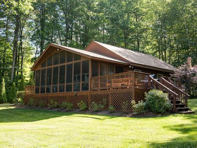 Photo for Pet-friendly chalet on peaceful Shell Camp Lake has everything needed for family lake vacation