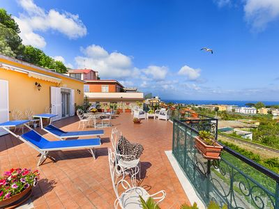 Photo for La Casa di Dana with Private Terrace, Sea View and Parking