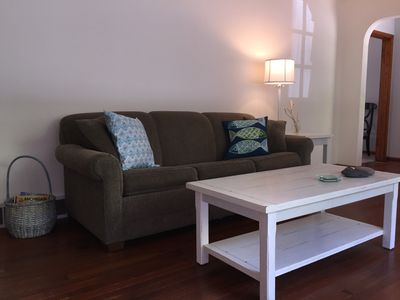 Pull-out couch in living room