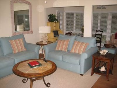 The living area, including sun room, of our airy, expanded second floor villa