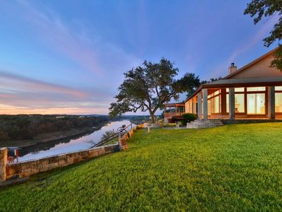 Photo for Regal Riverfront 4BR w/ 4.5BA, Firepit & Private Boat Dock, 2 Miles to Marina