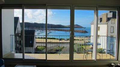 Photo for BEAUTIFUL SEA VIEW apartment 100m from the beach in Trébeurden