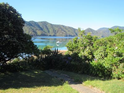 Photo for Remote beach-front house, boat access only