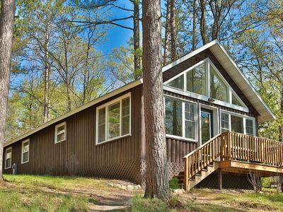 Photo for Pinehurst Resort, St. Germain - Luxurious Lake Front Cabin on Little Saint