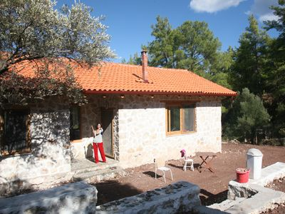 Photo for Cosy stone house with mountain view in Olympos