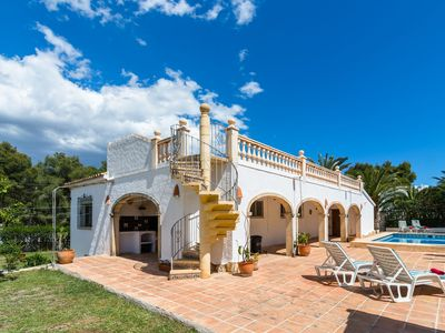 Photo for Beautiful villa with private swimming pool and fantastic view in pleasant Moraira