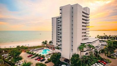 Photo for New Listing! Gulf View 1BR Family Suite with Balcony, Pool, Spa, On The Beach