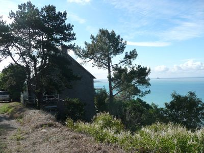 Photo for Family home with stunning views over the bay of Mont St Miche