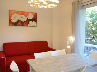 Photo for New and bright two-room apartment a stone's throw from the sea
