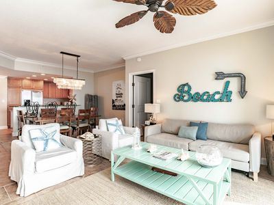 Photo for Beach Condo at Portofino Island Resort. Beautifully Decorated with Upgrades Throughout! Beach Views and Balcony Access from Both Bedrooms