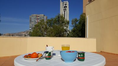 Photo for Bungalow on Poniente beach, WIFI and barbecue