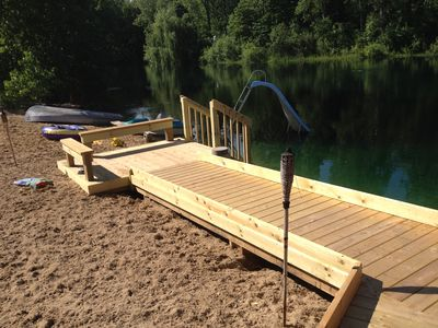 Private beach with fully accessible ramps.