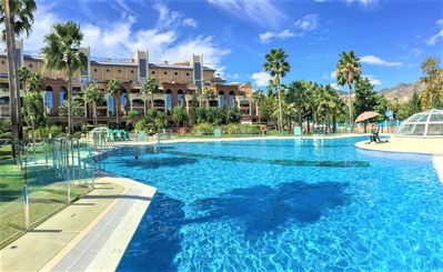 Photo for 2020 Prices Reduced!  Luxury 2 Bedroom Apt Bellagio Complex BEACH 5 min Wifi