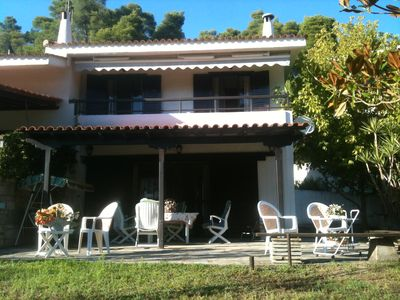 Photo for Beachfront Oasis Villa at Elani Halkidiki 100m from the sea