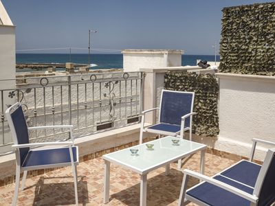 Photo for La dimora di Mara, sea view terrace, 80m from the sea, aircon, Wi-Fi