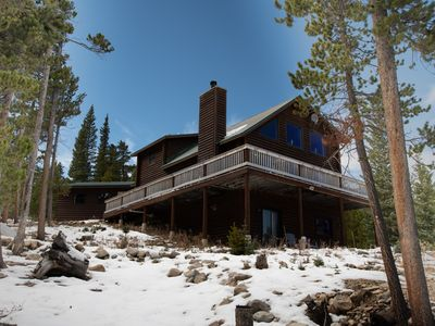 Photo for Family Friendly Secluded Luxury Cabin on 7.25 Forested Acres 25 mins to Breck!