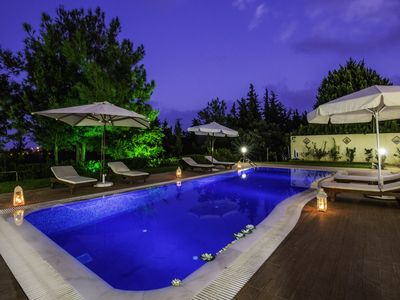 Photo for Rhodes Luxury Kallithea Breeze Villa with Ozone Pool & Private small Forest!