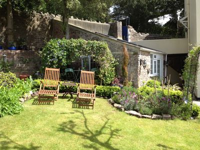 Photo for Cosy Gite Style Garden Cottage for two in Wellswood, Torquay, South Devon