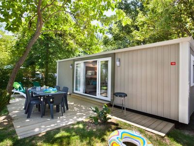 Photo for Camping La Sirène ***** - Mobil Home Sirène2 Confort Clim 3 Rooms 6 persons including 4 Adults maximum, baby included