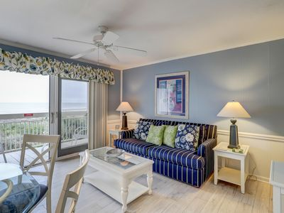 Photo for Oceanfront condo w/ ocean view, shared pool,  & easy beach access!