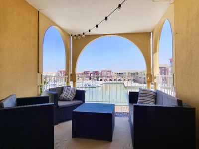 Photo for Beautiful cozy apartment, seen on the port, 4 people