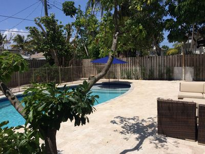 Photo for Pleasures of Palmway Cottage w/ Pool, Walk to Downtown, 1.5 miles from Beach