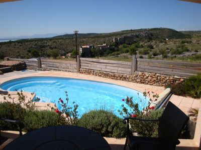 Photo for Stunning Villa, Pool, Sea View, 4 Bedrooms, Air Conditioning, Wi-Fi, TV